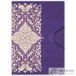 Папка на резинке Комус Arabeska A4 пластиковая фиолетовая (0.45 мм, до 200 листов)