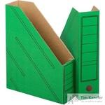 Вертикальный накопитель Attache картонный зеленый ширина 75 мм (2 штуки в упаковке)