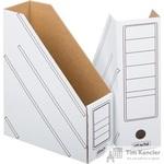 Вертикальный накопитель Attache картонный белый ширина 100 мм (2 штуки в упаковке)