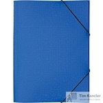 Папка-короб на резинке Attache Confidence A4 пластиковая синяя (0.8 мм, до 150 листов)