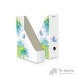 Вертикальный накопитель Комус Feeling картонный белый ширина 75мм (2 штуки в упаковке)