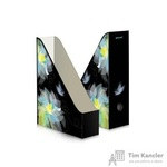 Вертикальный накопитель Комус Feeling картонный черный ширина 75мм (2 штуки в упаковке)