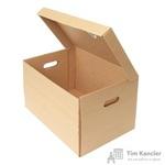 Короб архивный гофрокартон бежевый 480х325х295 мм (5 штук в упаковке)