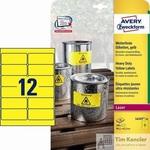 Этикетки самоклеящиеся Avery Zweckform всепогодные желтые 99.1х42.3 мм (12 штук на листе А4, 20 листов, артикул производителя L6107-20)