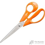 Ножницы Attache Orange 203 мм с пластиковыми анатомическими ручками оранжевого цвета