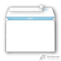 Конверт почтовый Комус C4 (229x324 мм) белый удаляемая лента (50 штук в упаковке)