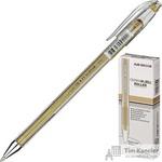 Ручка гелевая Crown золотистая (толщина линии 0.7 мм)