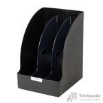 Вертикальный накопитель Leitz Plus Jumbo пластиковый черный ширина 215 мм 3 отделения