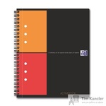 Бизнес-тетрадь Oxford Aktivebook А5+ 80 листов цветная в клетку на спирали (178x210 мм)