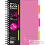 Бизнес-тетрадь Attache Selection Spiral Book A4 140 листов розовая в клетку на спирали (230x298 мм)