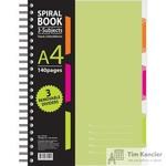 Бизнес-тетрадь Attache Selection Spiral Book A4 140 листов салатовая в клетку на спирали (230x298 мм)