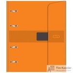 Бизнес-тетрадь со сменным блоком Attache Selection A5 120 листов оранжевая в клетку на кольцах (180x215 мм)