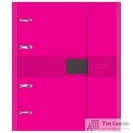 Бизнес-тетрадь со сменным блоком Attache Selection A5 120 листов розовая в клетку на кольцах (180x215 мм)