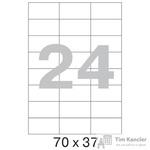 Этикетки самоклеящиеся Office Label эконом 70x37 мм белые (24 штуки на листе А4, 100 листов в упаковке)