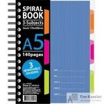 Бизнес-тетрадь Attache Selection Spiral Book A5 140 листов синяя в клетку на спирали (170x206 мм)