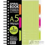 Бизнес-тетрадь Attache Selection Spiral Book A5 140 листов салатовая в клетку на спирали (170x206 мм)