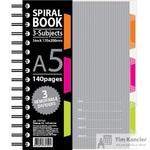 Бизнес-тетрадь Attache Selection Spiral Book A5 140 листов серая в клетку на спирали (170x206 мм)