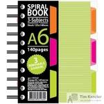 Бизнес-тетрадь Attache Selection Spiral Book A6 140 листов салатовая в клетку на спирали (125x146 мм)