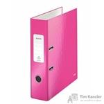 Папка-регистратор Leitz 80 мм розовая