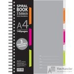 Бизнес-тетрадь Attache Selection Spiral Book A4 140 листов серая в клетку на спирали (230x298 мм)