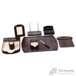 Набор настольный из искусственной кожи Attache W1044 9 предметов коричневый