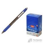Ручка шариковая масляная автоматическая Unimax Glide Trio RT GP Steel синяя (толщина линии 0.5 мм)