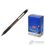 Ручка шариковая масляная автоматическая Unimax Glide Trio RT GP Steel черная (толщина линии 0.5 мм)