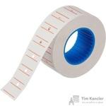 Этикет-лента прямоугольная белая с красной полосой 21.5х12 мм (200 рулонов по 800 этикеток)