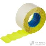 Этикет-лента волна желтая 26х12 мм (200 рулонов по 800 этикеток)