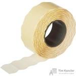 Этикет-лента волна белая 22х12 мм эконом (10 рулонов по 1000 этикеток)