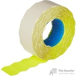 Этикет-лента волна желтая 22х12 мм эконом (10 рулонов по 1000 этикеток)