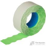 Этикет-лента волна зеленая 22х12 мм эконом (10 рулонов по 1000 этикеток)