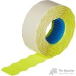 Этикет-лента волна желтая 22х12 мм (10 рулонов по 1000 этикеток)