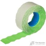 Этикет-лента волна зеленая 22х12 мм (10 рулонов по 1000 этикеток)