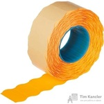 Этикет-лента волна оранжевая 22х12 мм (10 рулонов по 1000 этикеток)