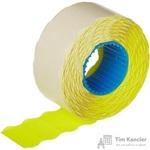 Этикет-лента волна желтая 26х12 мм (10 рулонов по 1000 этикеток)