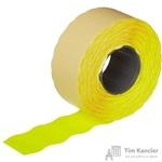 Этикет-лента волна желтая 26х16 мм (10 рулонов по 1000 этикеток)
