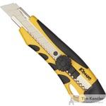 Нож канцелярский Комус 18 мм с металлическими направляющими для лезвия и роликовым фиксатором (в ассортименте)