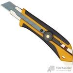 Нож универсальный Olfa 18 мм с фиксатором и двухкомпонентным корпусом желтый/черный