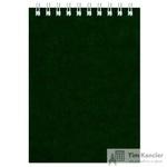 Блокнот Альт Офис 1 А6 60 листов зеленый в клетку на спирали (135х95 мм)