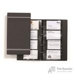 Визитница настольная Durable Visifix пластиковая на 200 визиток антрацитовая