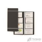 Визитница настольная Durable Visifix искусственная кожа на 96 визиток антрацитовая