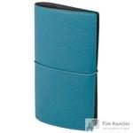 Записная книжка InFolio Palette искусственная кожа 64 листа бирюзовая (120х210 мм)