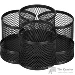 Подставка для канцелярских принадлежностей Attache (7 секций, металлическая сетка, 110x165x175 мм, черная)