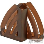 Вертикальный накопитель Комус Элегант пластиковый коричневый ширина 80 мм (2 штуки в упаковке)