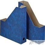 Вертикальный накопитель Attache Мрамор картонный синий ширина 70 мм (2 штуки в упаковке)