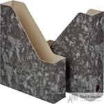 Вертикальный накопитель Attache Мрамор картонный черный ширина 70 мм (2 штуки в упаковке)