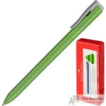 Ручка шариковая масляная автоматическая Faber-Castell Grip салатовая (толщина линии 0.7 мм)