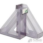 Вертикальный накопитель Стамм пластиковый серый ширина 100 мм (2 штуки в упаковке)