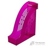 Вертикальный накопитель Attache Яркий Офис пластиковый розовый ширина 95 мм